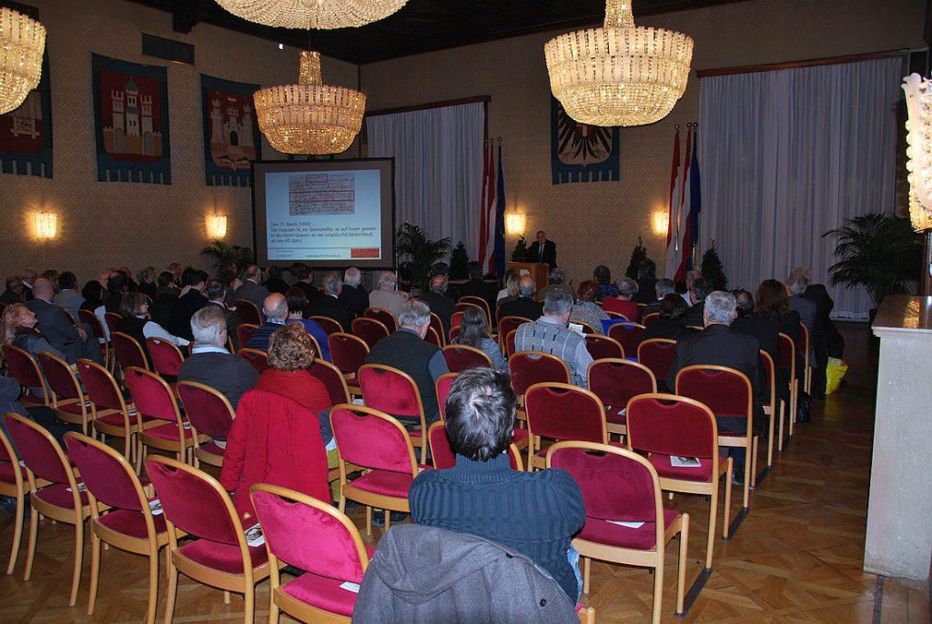Die Veranstaltung im Wappensaal des Wiener Rathauses