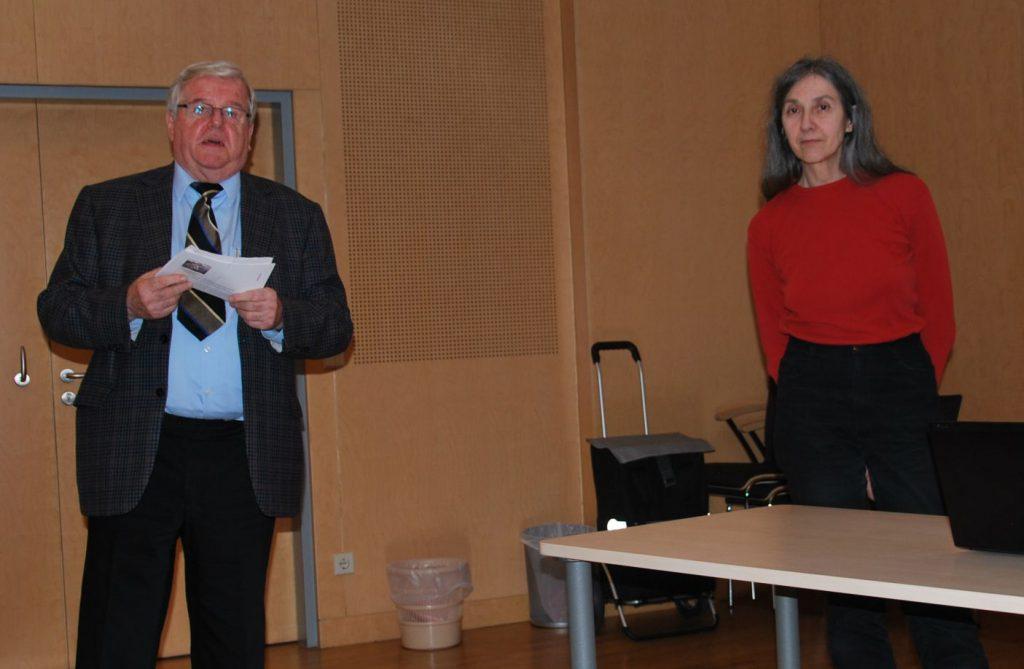 Vizepräsident Prof. Dr. Helmut Kretschmer präsentierte die Vortragende, Frau Univ.-Prof. Dr. Eva Berger