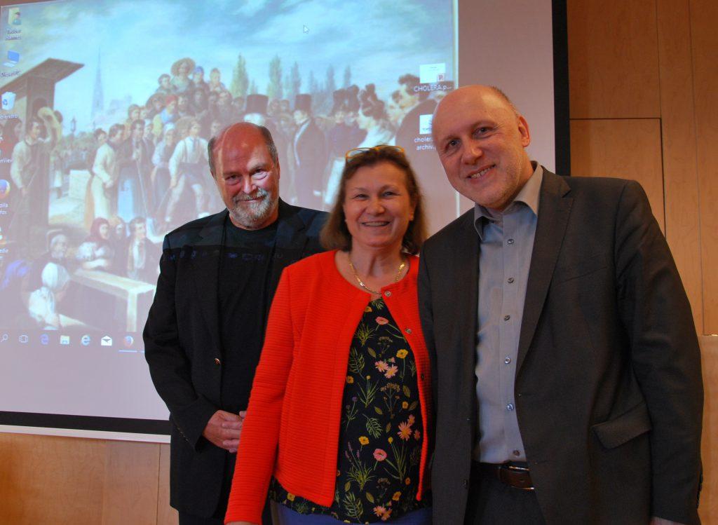 Frau Archivdirektorin Dr.in Brigitte Rigele mit den beiden Vortragenden