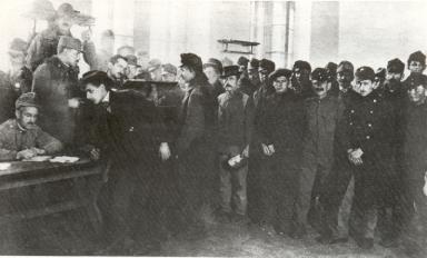 Anwerbungen für die neue Volkswehr, 1918, ÖNB, Bildarchiv