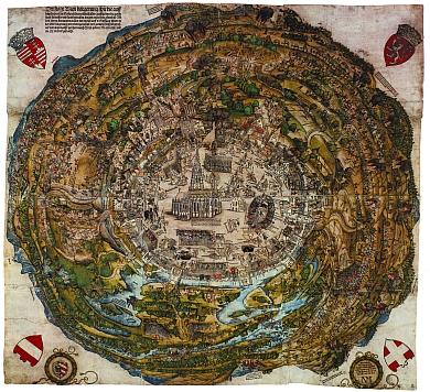 Der Meldeman-Plan von 1529/1530 (Foto: Wien Museum Karlsplatz)