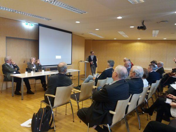 Diskussion der Beiträge von Univ.-Prof.in Dr.in Martina Stercken und ao. Univ.-Prof. Dr. Ferdinand Opll (Foto: Susanne Claudine Pils)