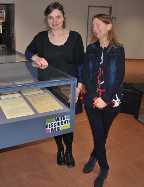 Dr.in Angela Heide und Dr.in Susanne Claudine Pils (Foto: Alfred Paleczny)